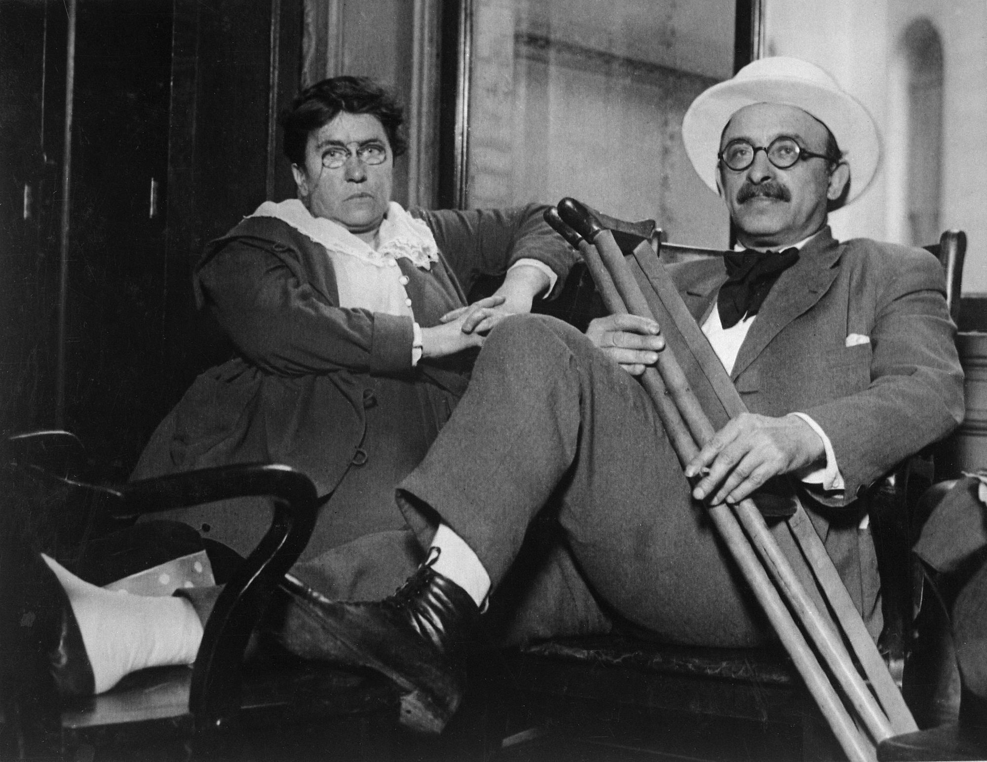 Emma Goldman and Alexander Berkman. Source: Wiki Commons Media