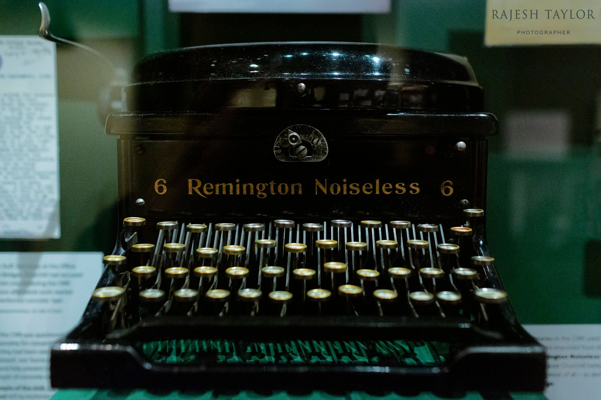 Remington Noiseless Model 6 Typewriter © Rajesh Taylor