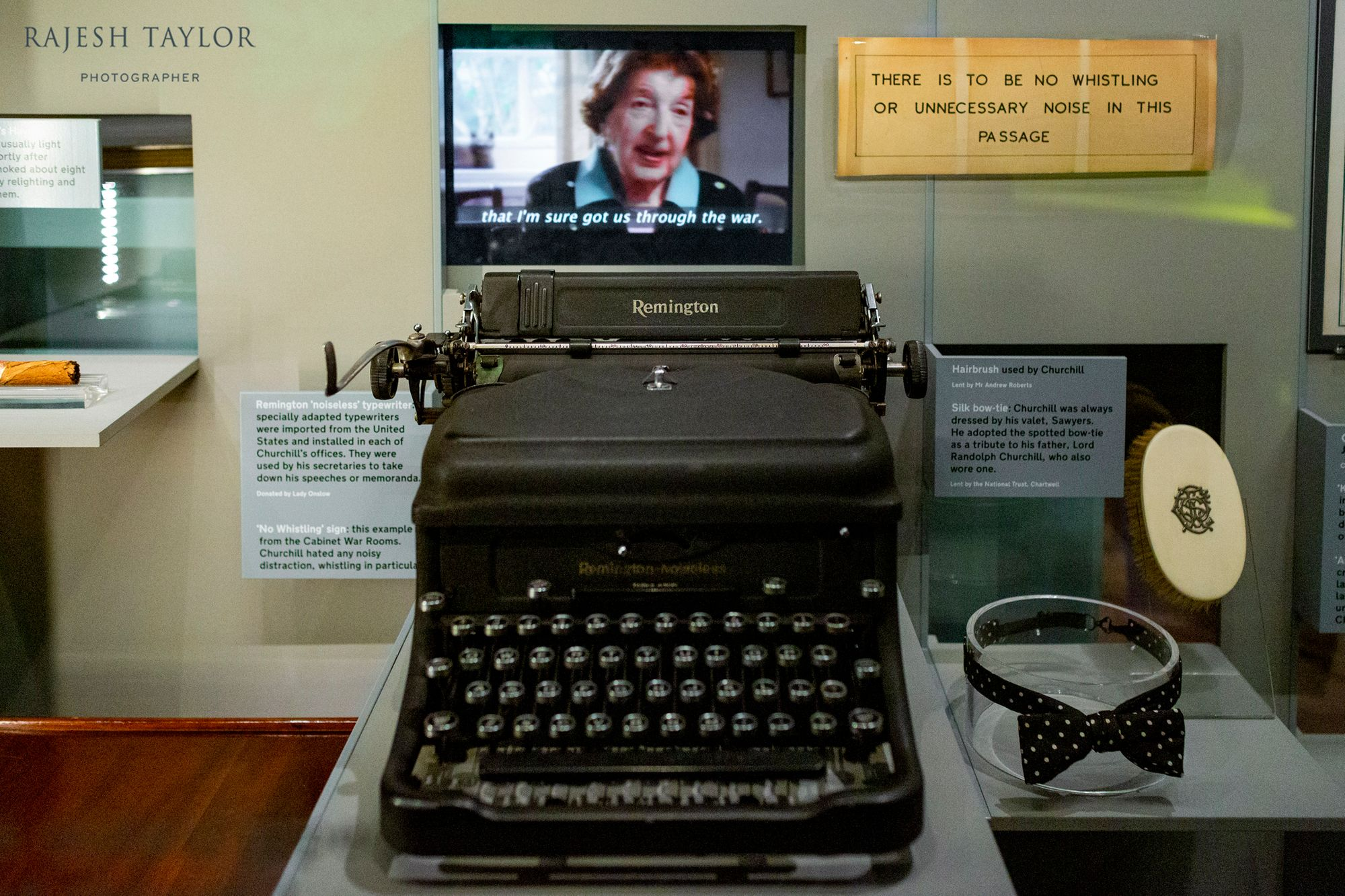 Reminton Typewriter and other memorabilia at Churchill War Rooms Museum © Rajesh Taylor
