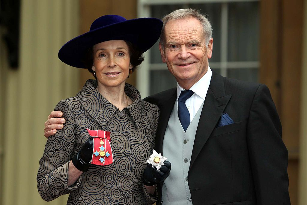 Mary & Jeffrey Archer at a Royal Investiture ceremony at Buckingham Palace, 2012