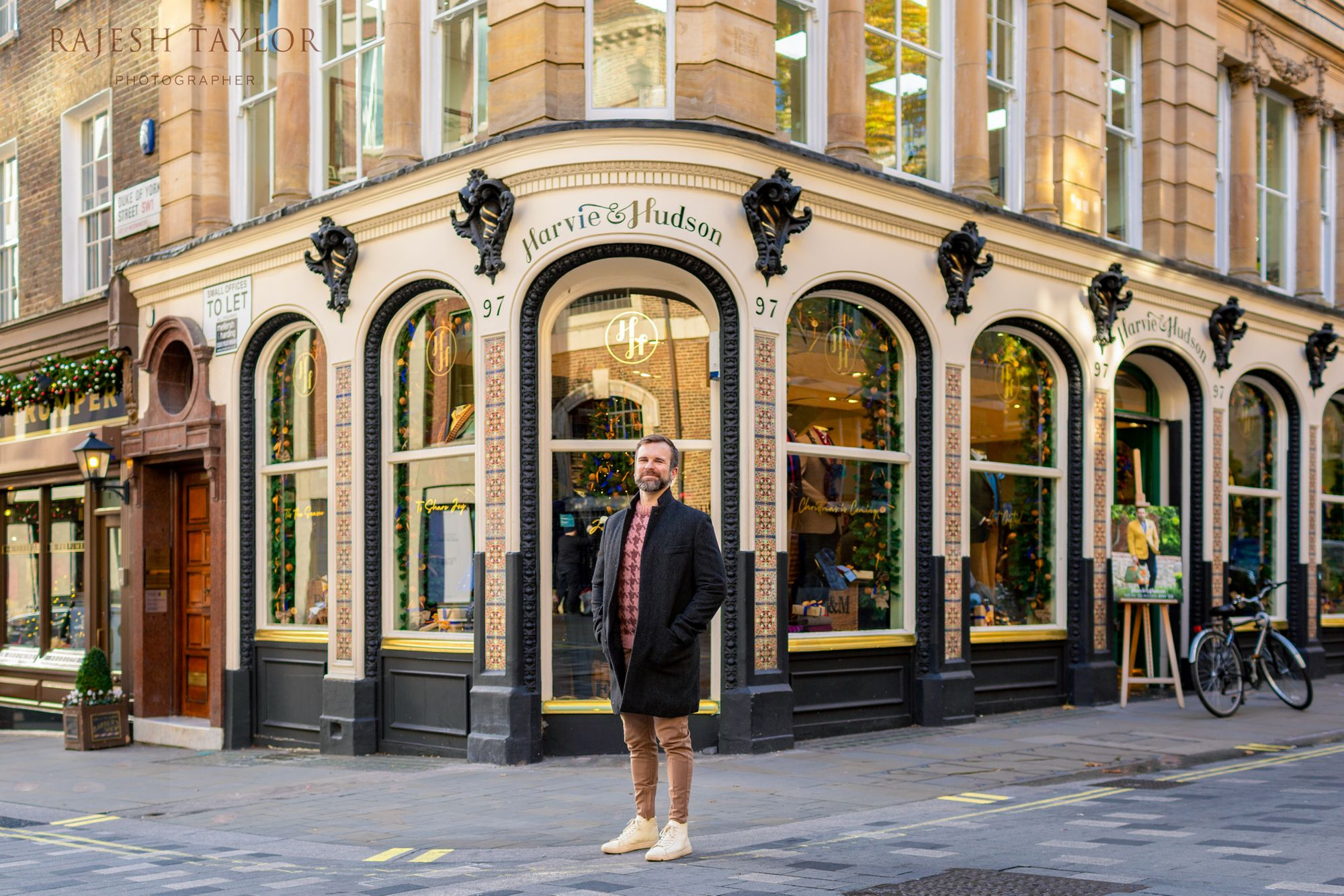 Brian Snelling & Family Thanksgiving Shoot and Shopping Experience, Harvey & Hudson, Jermyn Street. © Rajesh Taylor