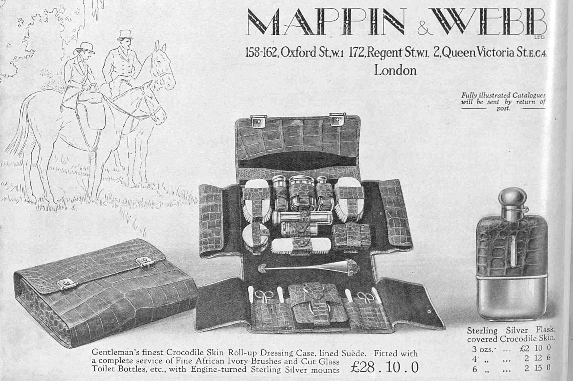 Mappin & Webb Advert in The Bystander 1928. Source: British Newspaper Archives