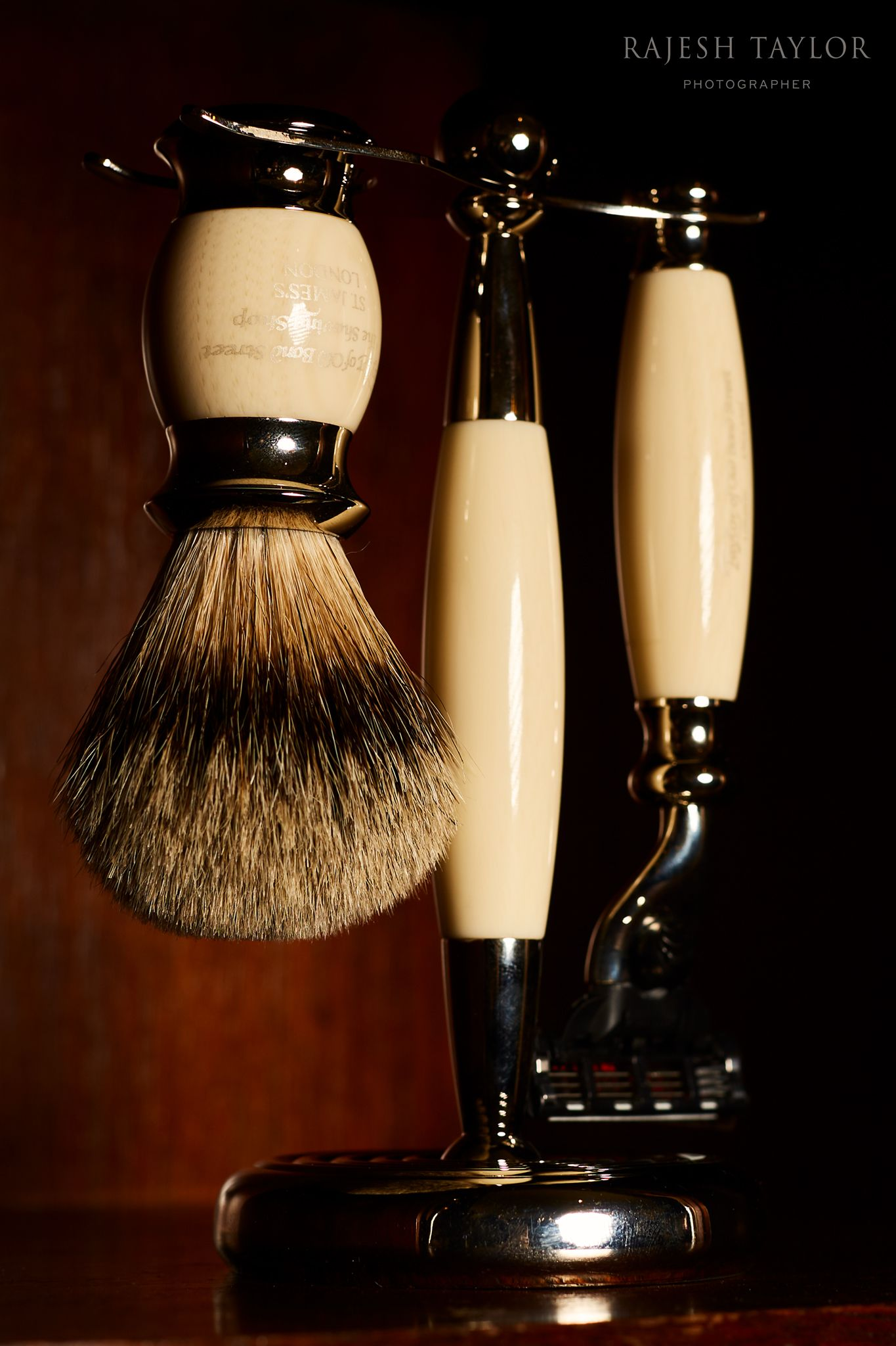 Edwardian Shaving Set by Taylor of Old Bond Street: © Rajesh Taylor