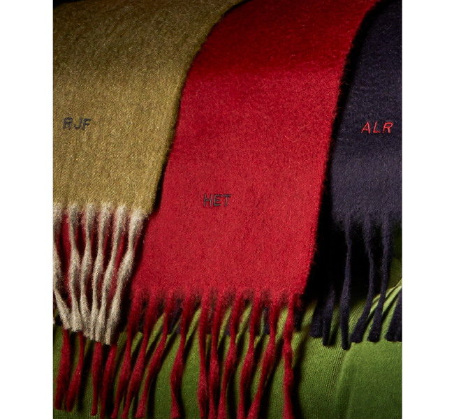 Personalised Pure Cashmere Scarves: Turnbull & Asser