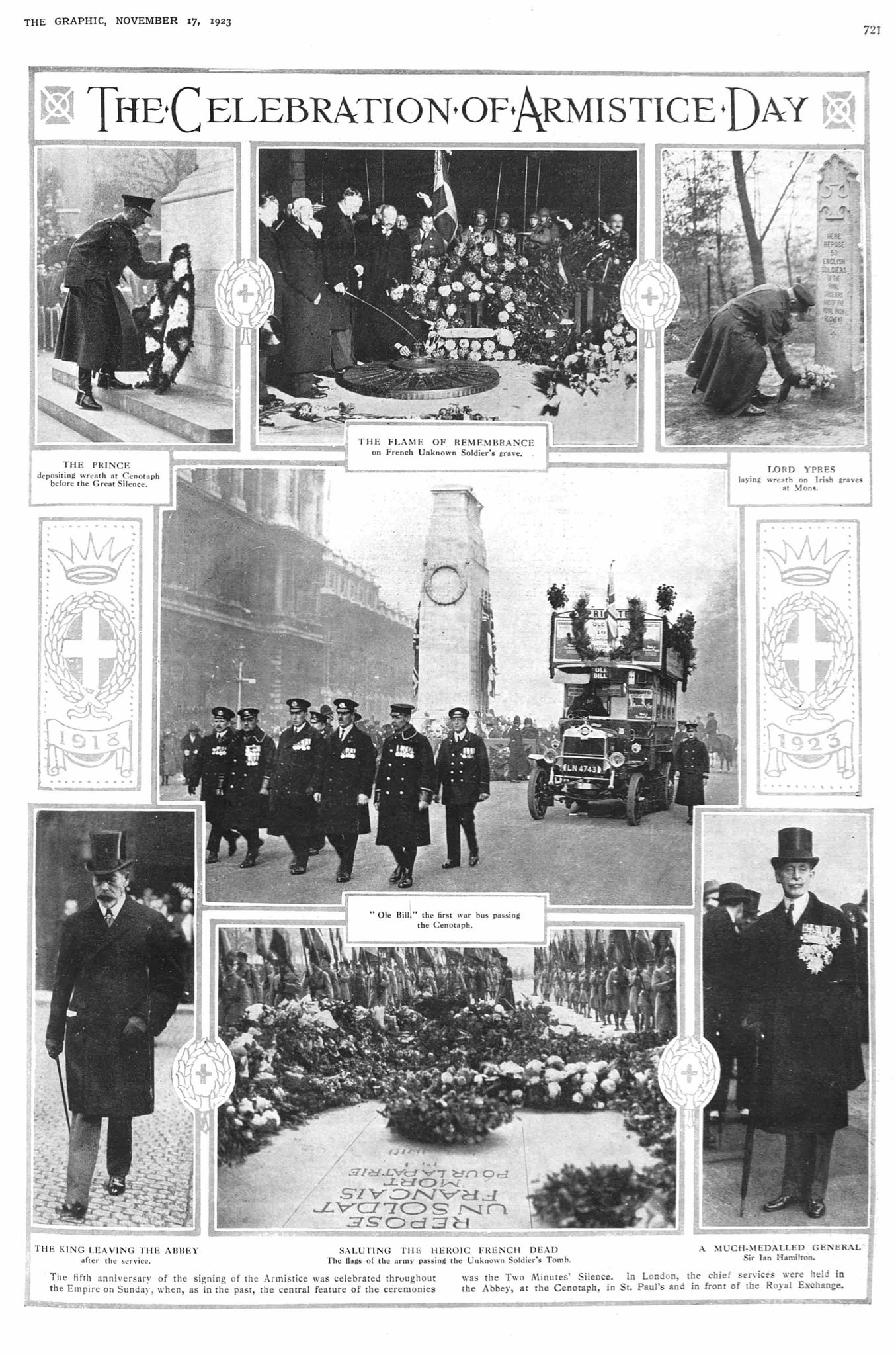 Armistice 1923, Parliament Street, City of Westminster. Source: The Graphic Newspaper Source pp. 721