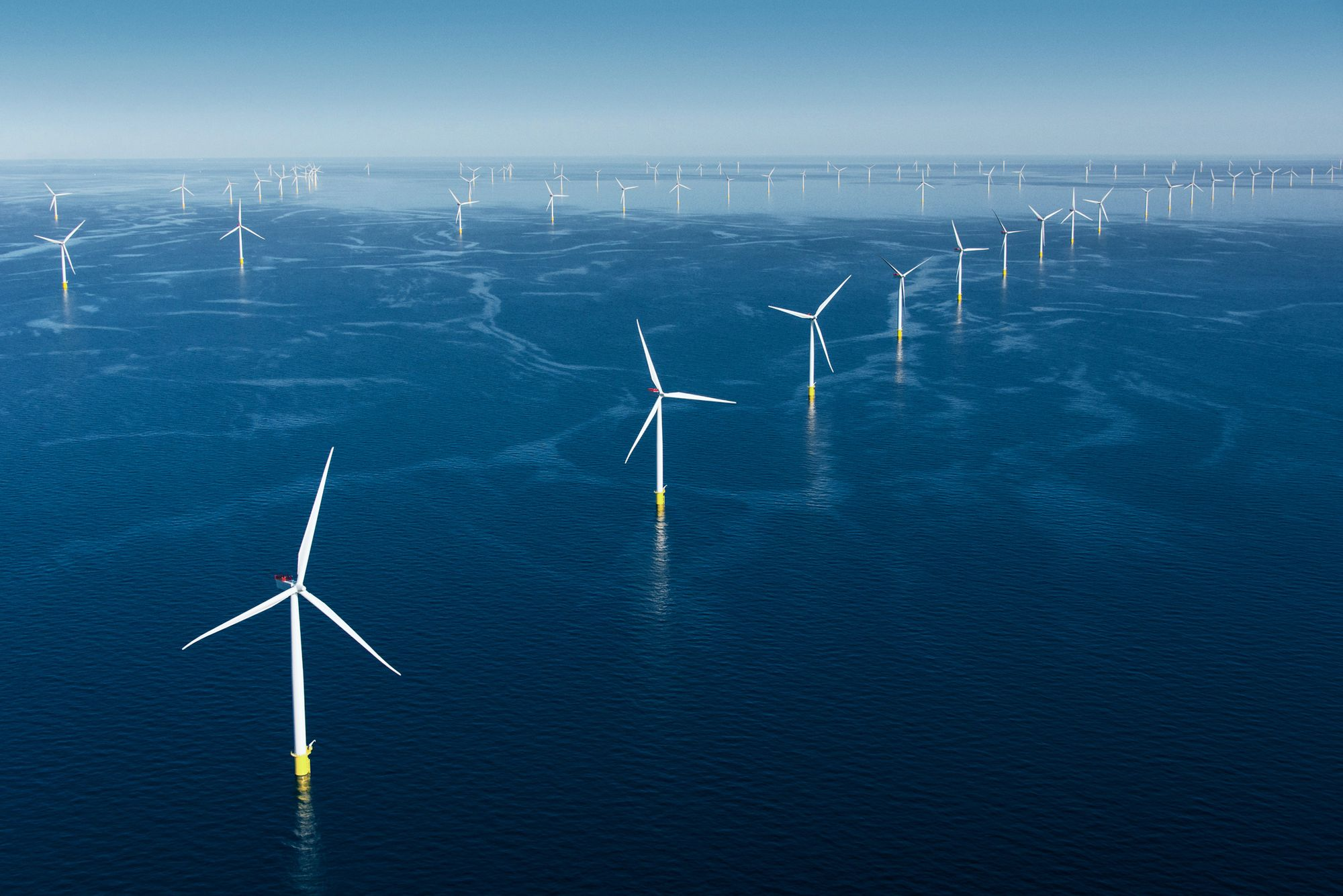 Hornsea Project 2 Wind Turbines in North Sea, UK. Source: Orsted