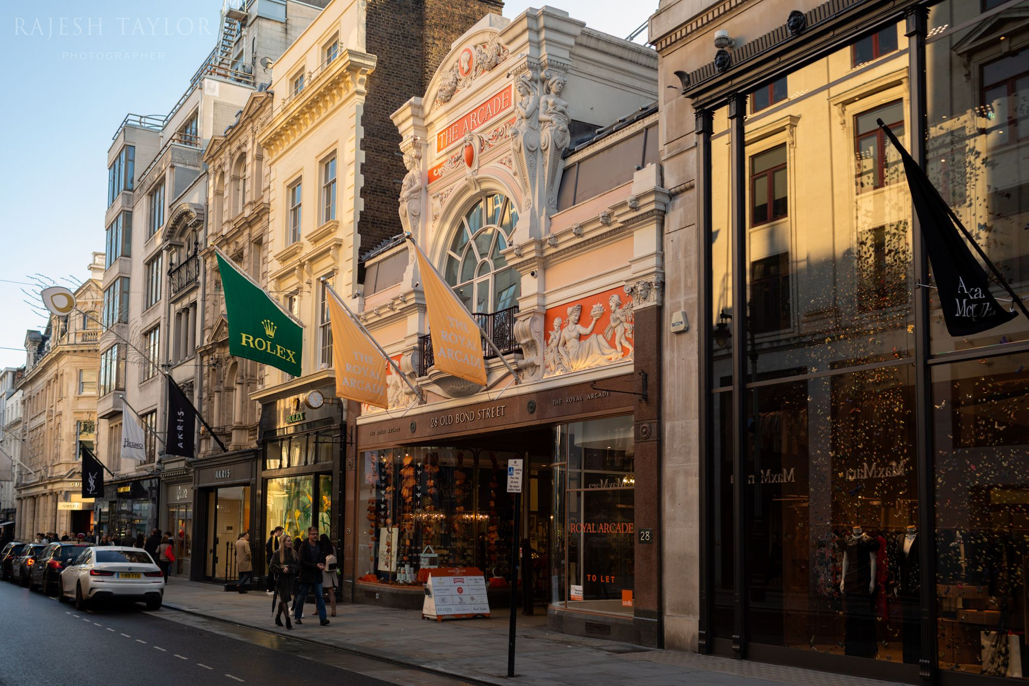 Royal Arcade on Old Bond Street, home to many former bespoke craftsmen ©Rajesh Taylor