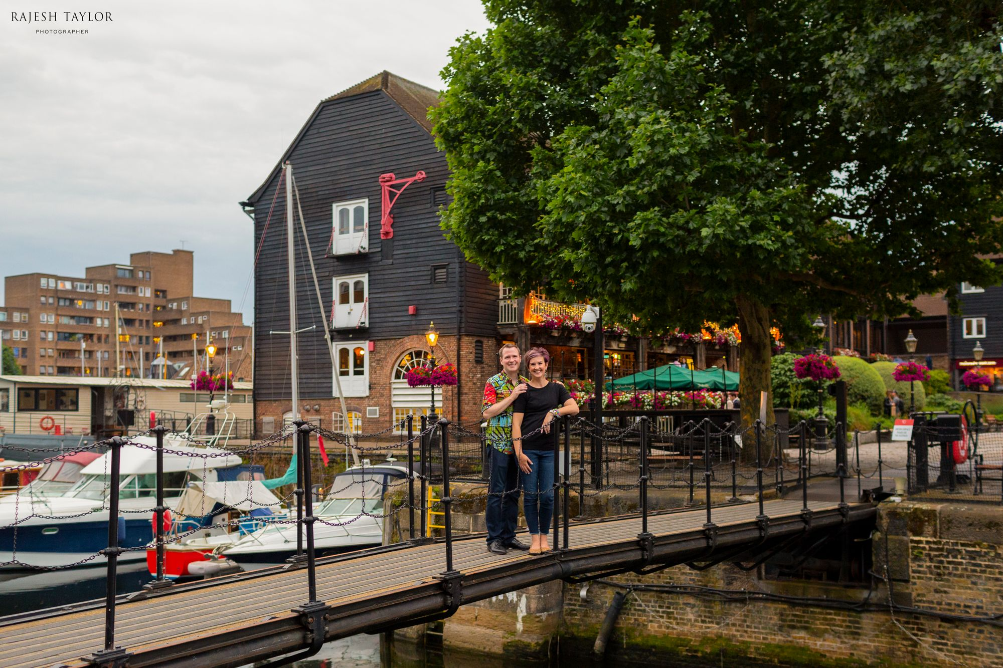 Telford's Lock and Footbridge, St Katherine's dock © Rajesh Taylor