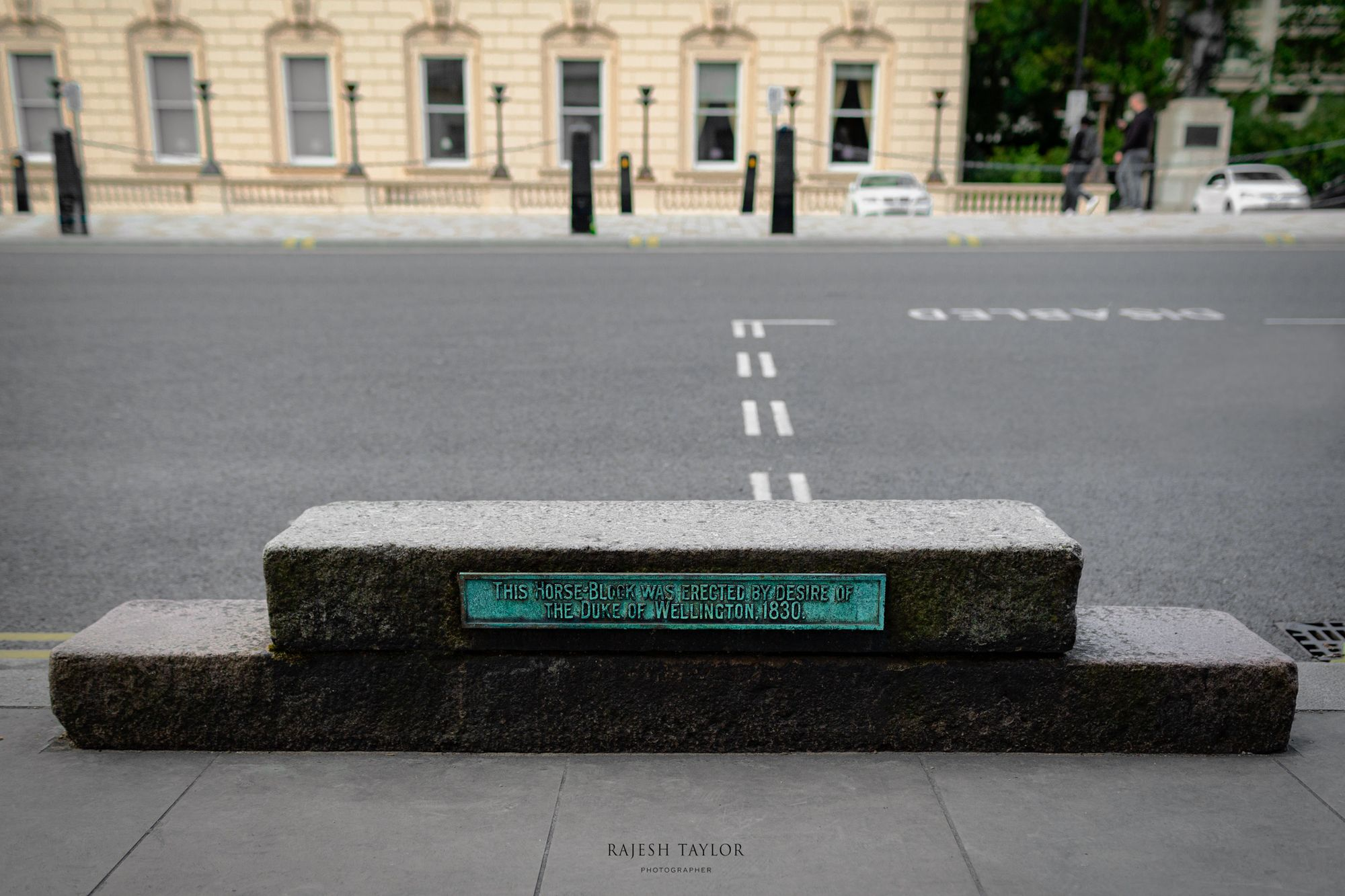 The Duke of Wellington's horse block on Waterloo Place, outside The Athenaeum Club © Rajesh Taylor