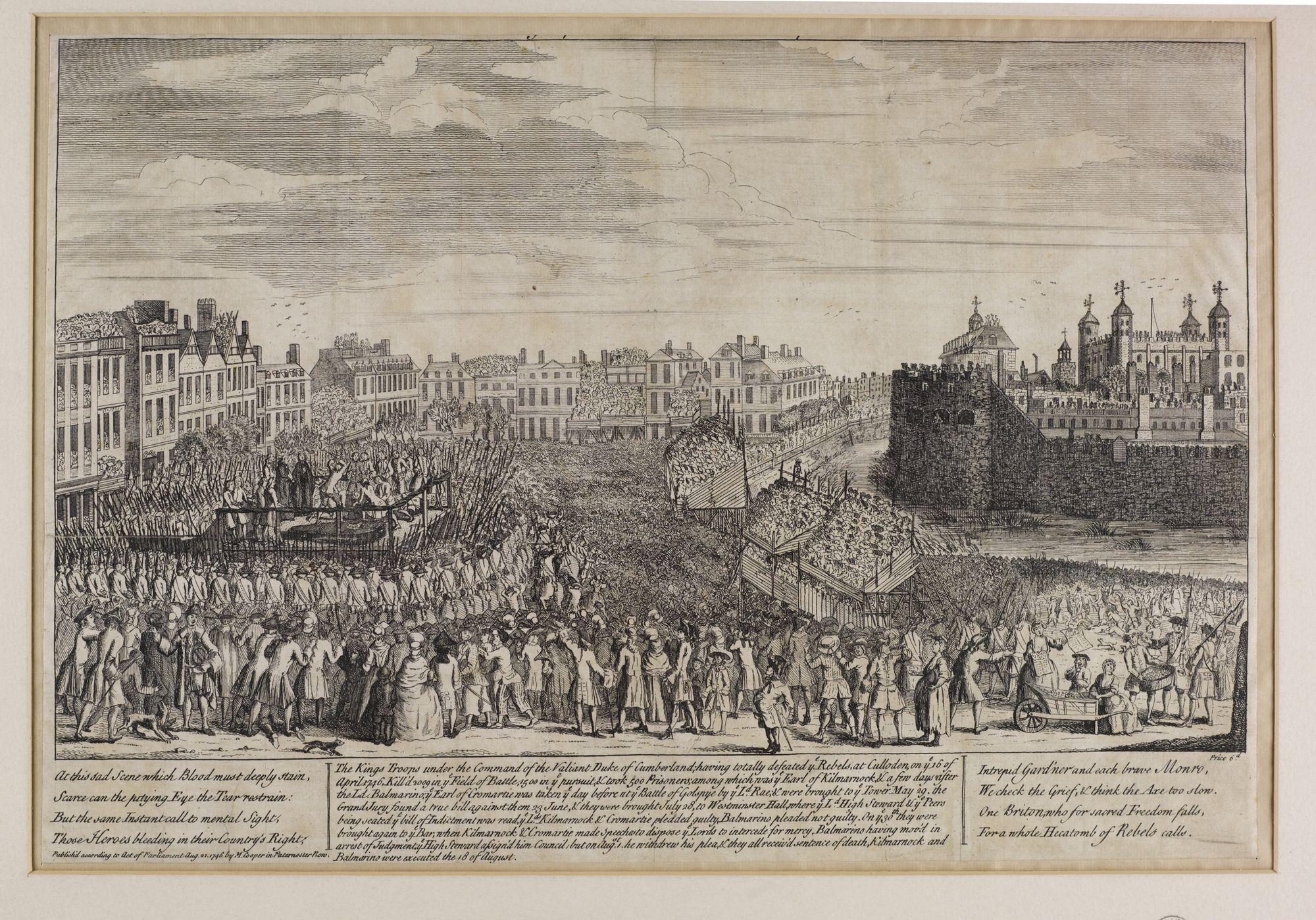 Execution of the Earl of Kilmarnock and Lord Balmerino: National Library of Scotland