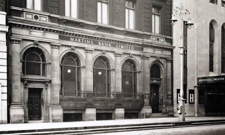 Martins Bank Ltd on 16-18 Whitehall in 1966