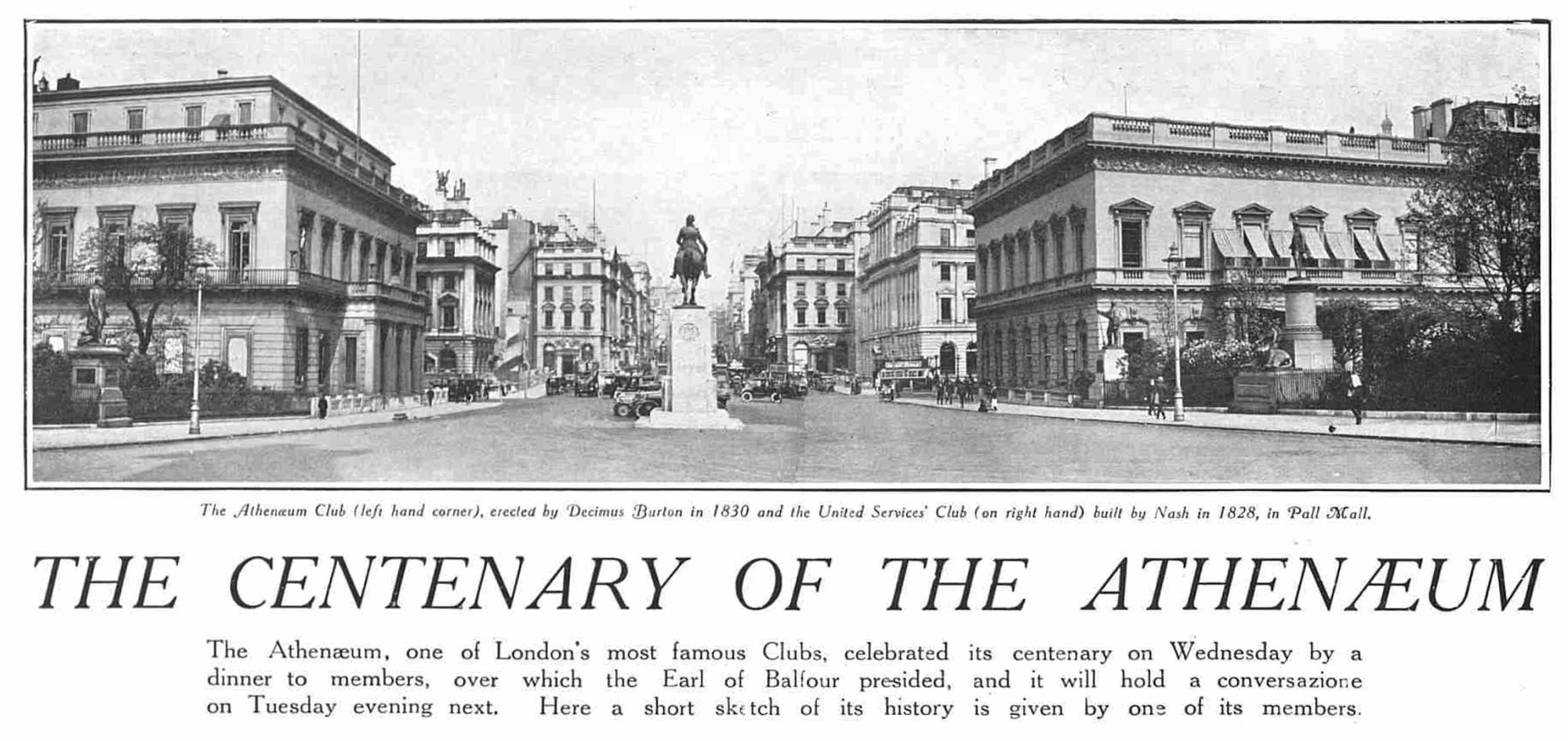Waterloo Place towards Piccadilly: The Graphic 31st May 1924 p.20