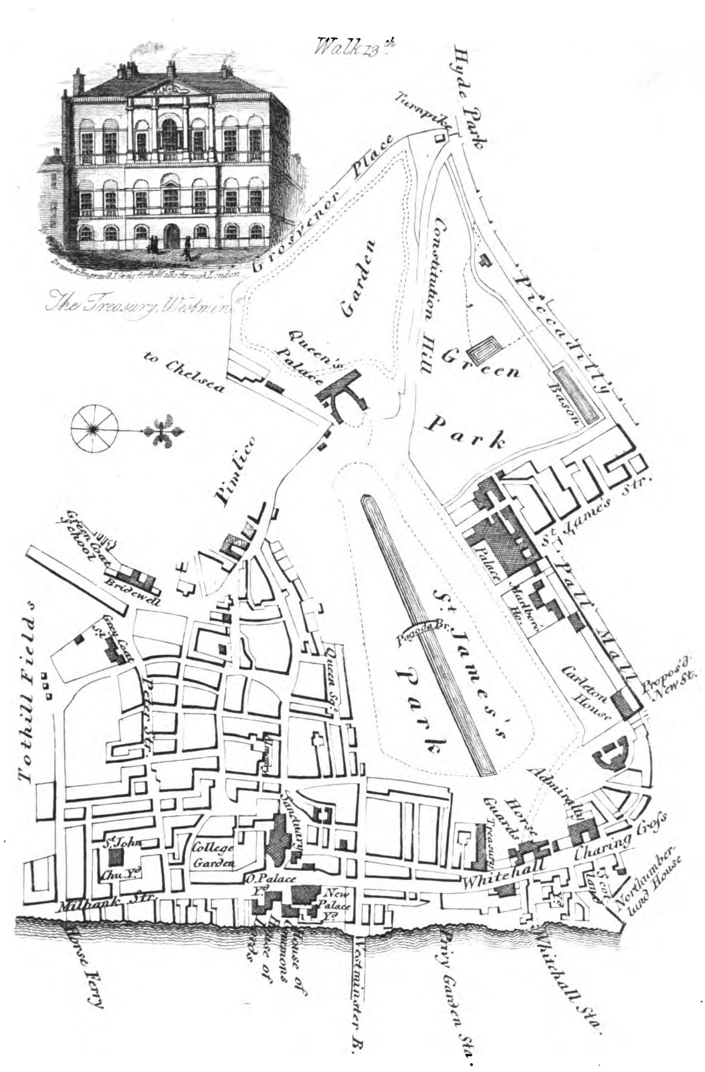 The City of Westminster depicted in 1817: Walks Through London Vol. 2